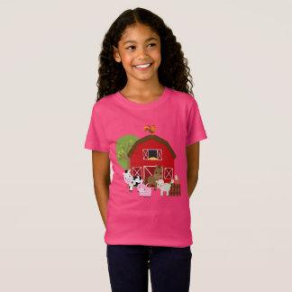 Girls Farm Barnyard T-shirt