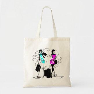 Girls fashion models chic elegant budget tote bag