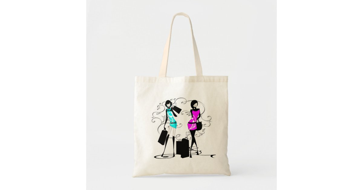 5aedae5eb6b1 Girls fashion models chic elegant tote bag