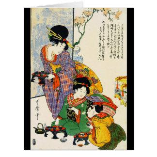 Girl's Festival 1801 Card