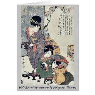 Girl's festival (hinamatsuri) by Kitagawa, Utamaro Cards