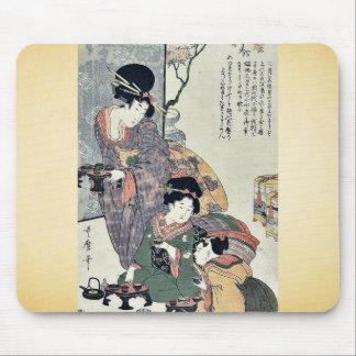 Girl's festival (hinamatsuri) by Kitagawa, Utamaro Mouse Pad