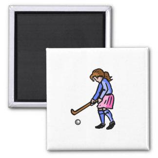 Girls Field Hockey Magnet