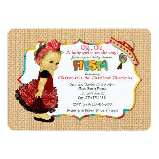girls fiesta baby shower invitations announcements zazzle