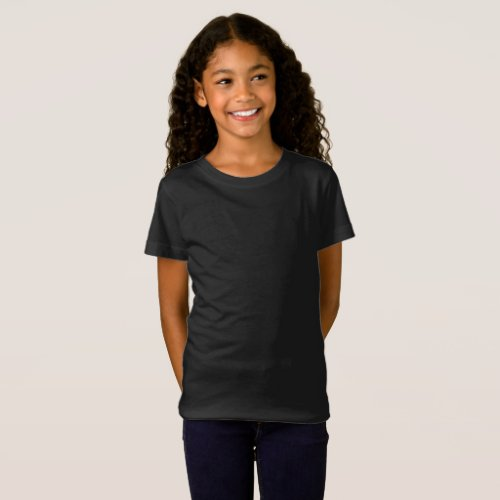 Girls Fine Jersey Dark Create It Add Artwork T_Shirt