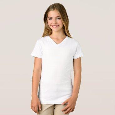 Beach Themed Girls' Fine Jersey V-Neck T-Shirt