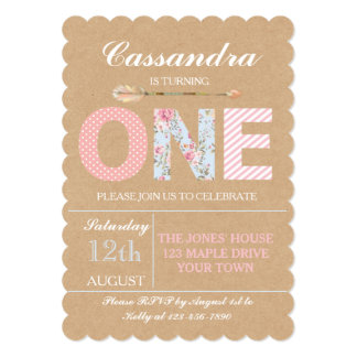 Girls First Birthday Invitations Announcements Zazzle - First birthday invitations girl online
