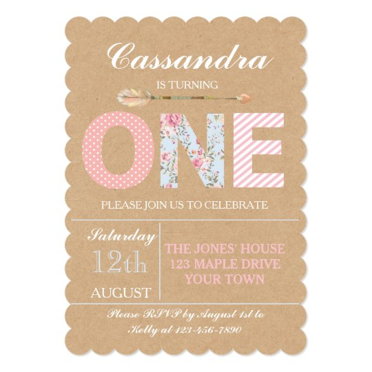 Girls first birthday invitation shabby chic zazzle girls first birthday invitation shabby chic filmwisefo