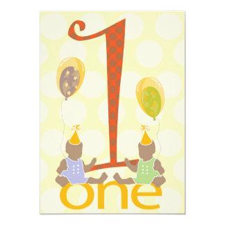 Girls First Birthday Party Invitation