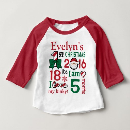 Girls First Christmas Shirt Baby's First Christmas   Zazzle