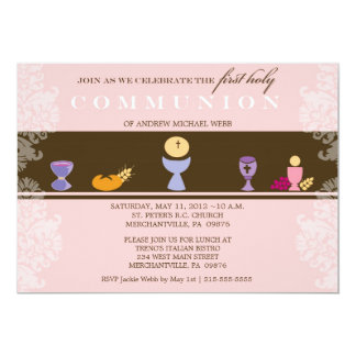 Girl's First Communion Invitation