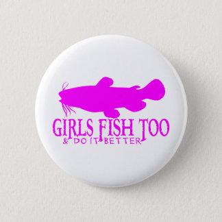 GIRLS FISH TOO CATFISH PINBACK BUTTON