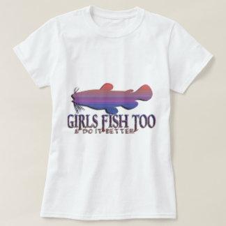 GIRLS FISH TOO CATFISH T-SHIRTS