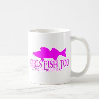 GIRLS FISH TOO WALLEYE COFFEE MUG