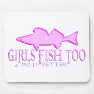 GIRLS FISH TOO WALLEYE MOUSE PAD