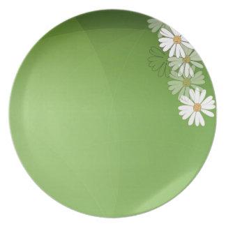 Girls flowers plate