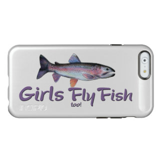 Girls Fly Fish too! Rainbow Trout Fly Fishing Incipio Feather® Shine iPhone 6 Case