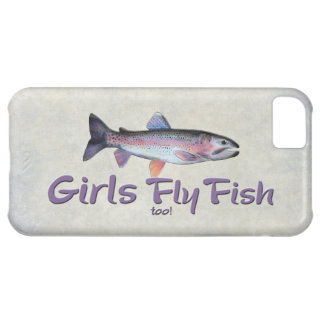 Girls Fly Fish too! Rainbow Trout Fly Fishing iPhone 5C Cover