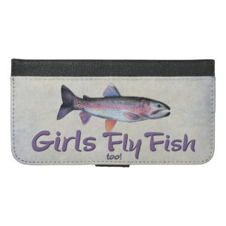 Girls Fly Fish too! Rainbow Trout Fly Fishing iPhone 6/6s Plus Wallet Case