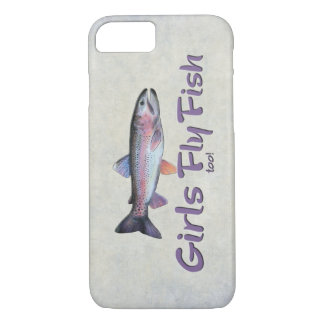 Girls Fly Fish too! Rainbow Trout Fly Fishing iPhone 7 Case
