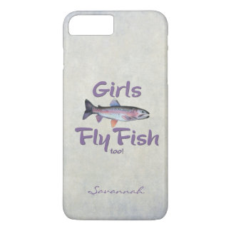 Girls Fly Fish too! Rainbow Trout Fly Fishing iPhone 7 Plus Case