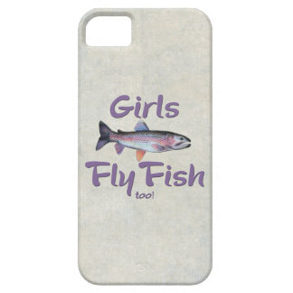 Girls Fly Fish too! Rainbow Trout Fly Fishing iPhone SE/5/5s Case