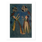 Girls flying kites, Kulu folk painting, Himachal P Postcard