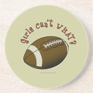 Girls Football - Orange Text Drink Coaster