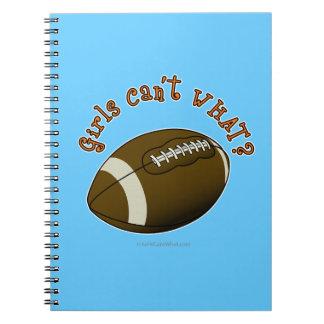 Girls Football - Orange Text Notebook