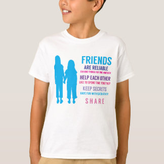 Girls Friendship Friends Inspirational T-Shirt