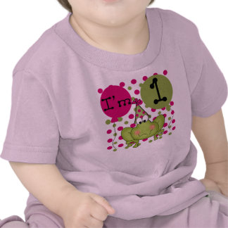 Girls Frog First Birthday Tee Shirt