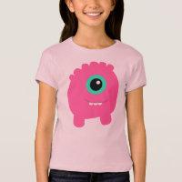 Girl's Fun & Cute Pink Monster T-Shirt