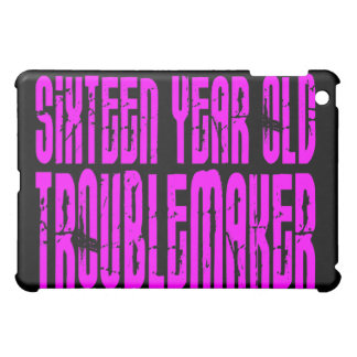 Girls Funny Birthday Sixteen Year Old Troublemaker iPad Mini Cases