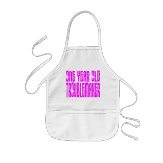 Girls Funny Birthdays : One Year Old Troublemaker Kids' Apron
