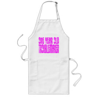 Girls Funny Birthdays : One Year Old Troublemaker Long Apron