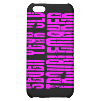 Girls Funny Birthdays Seven Year Old Troublemaker iPhone 5C Cases
