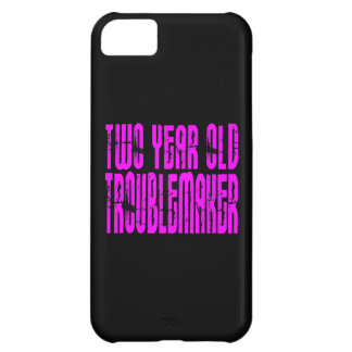 Girls Funny Birthdays : Two Year Old Troublemaker iPhone 5C Case