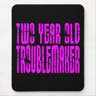 Girls Funny Birthdays : Two Year Old Troublemaker Mouse Pad
