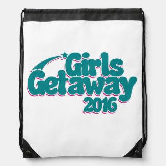 Girls getaway 2016 drawstring bag