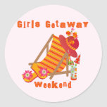 Girls Getaway Weekend T-shirts and Gifts Classic Round Sticker