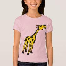 girl's giraffe fitted T-shirt. T-Shirt