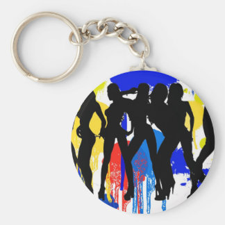Girls, Girls, Girls Basic Round Button Keychain