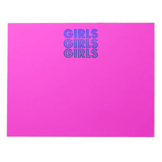 Girls Girls Girls Graphic Notepad
