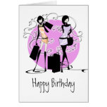 Girls girly fashion divas friends PERSONALIZE Cards
