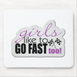 Girls Go Fast Mouse Pad
