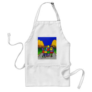 Girls Going Home by Piliero Adult Apron