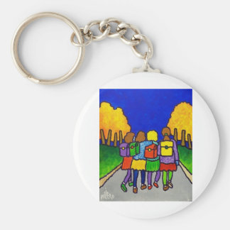 Girls Going Home by Piliero Keychain