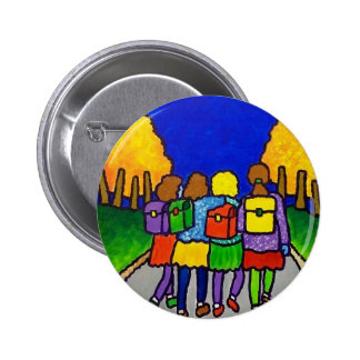 Girls Going Home by Piliero Pinback Button