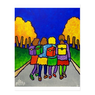 Girls Going Home by Piliero Postcard