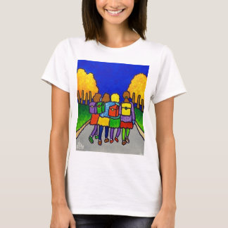 Girls Going Home by Piliero T-Shirt